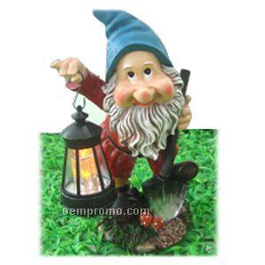 Gnome W/Solar Lantern