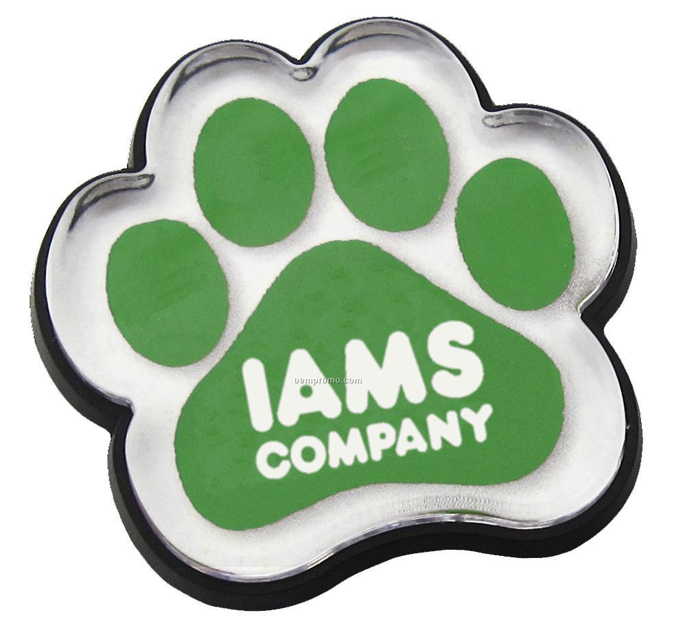 Paw Shaped Magnetic Tag