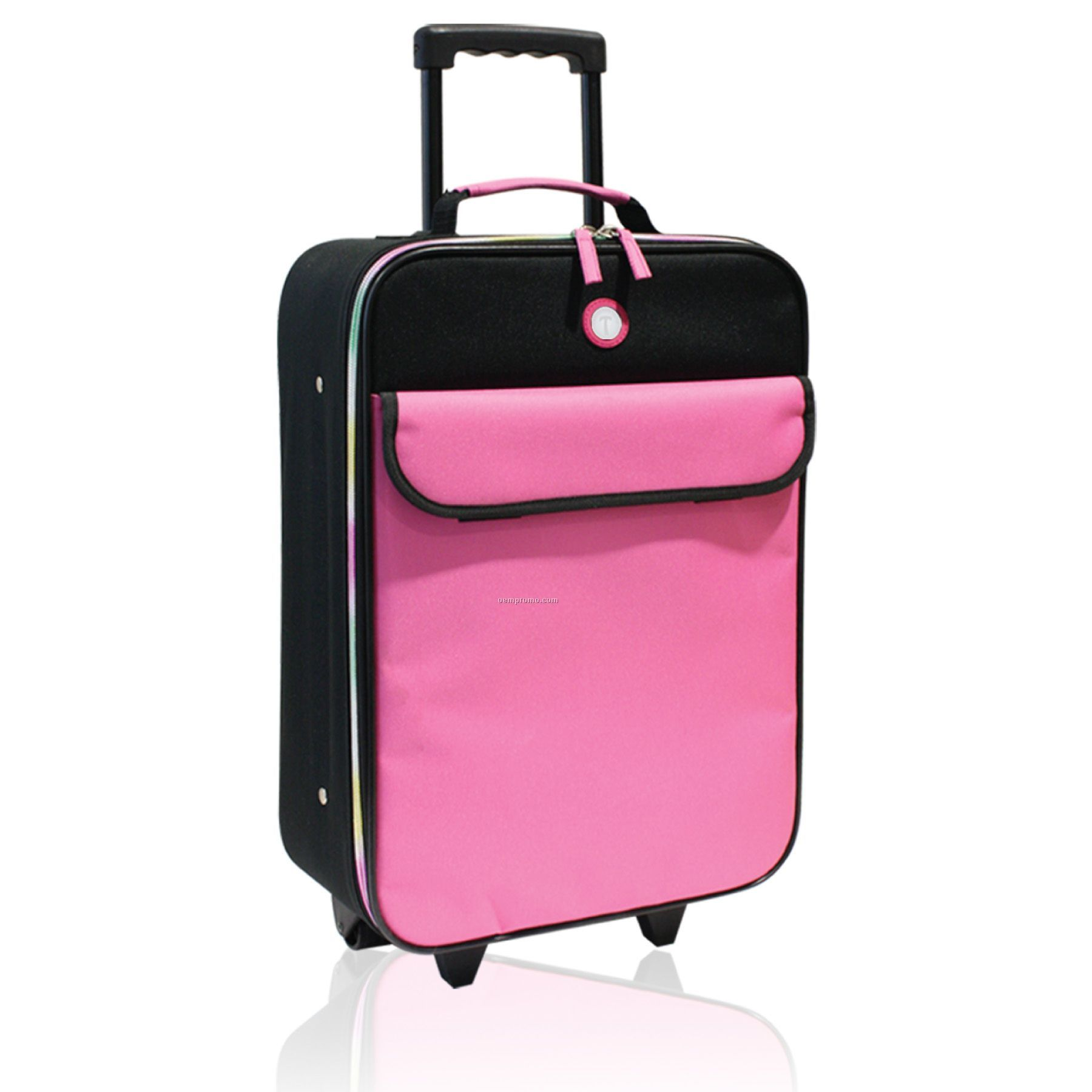 18' Junior Rolling Carry-on W/Rainbow Colored Zipper