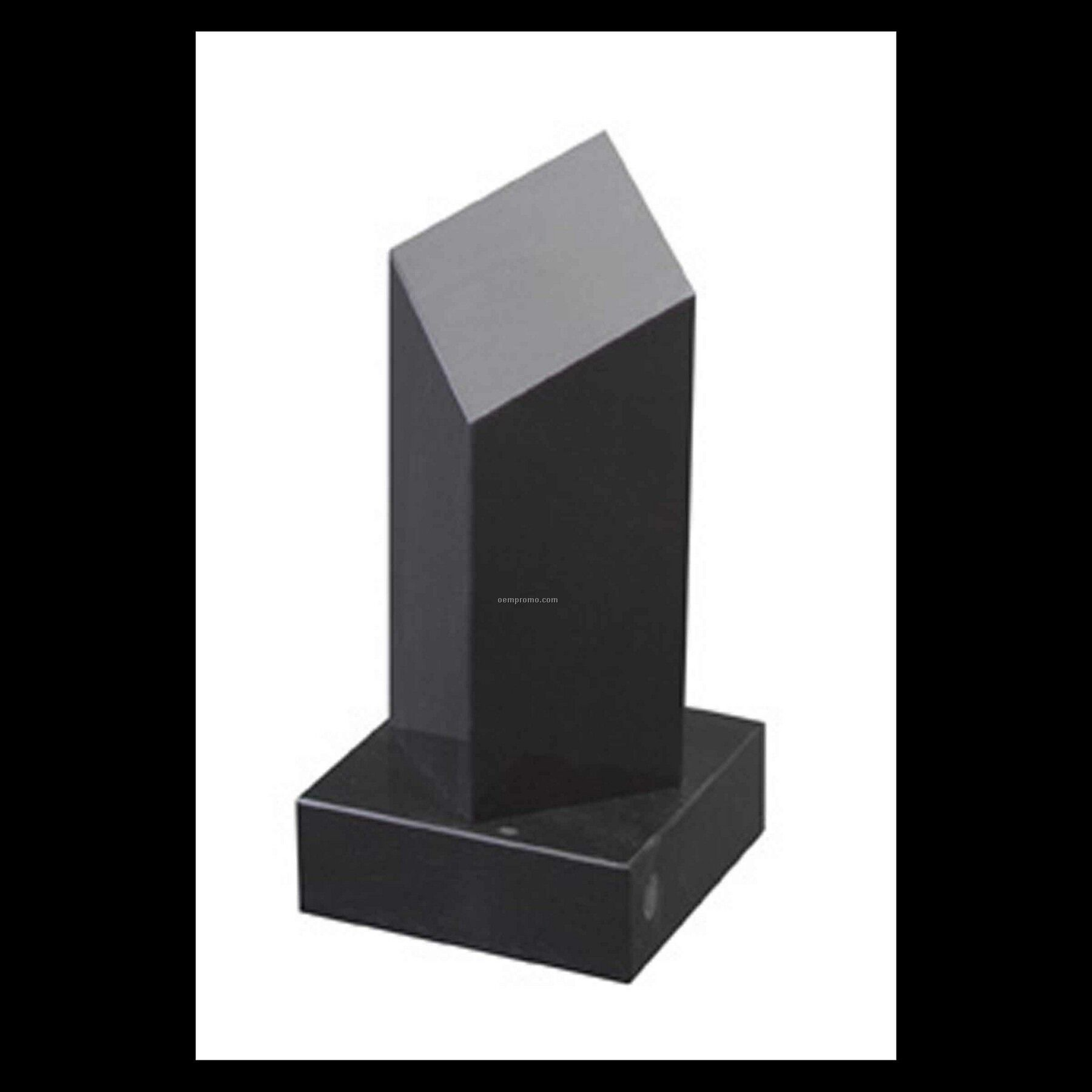 "7"" Black Marble Diamond Pillar Award"