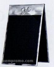 "Brushed Aluminum Table Tent (6 1/2""X4 1/4"")"