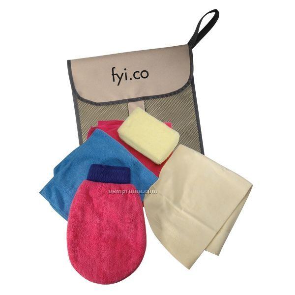 Car Cleaning Kit W/ Mesh Bag