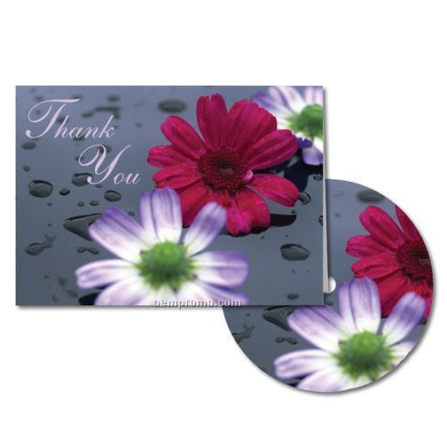 Flowers Thank You Note With Matching CD