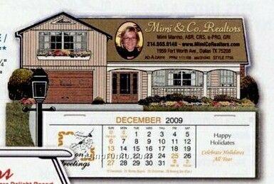 House Standard Die Cut Desk Calendar