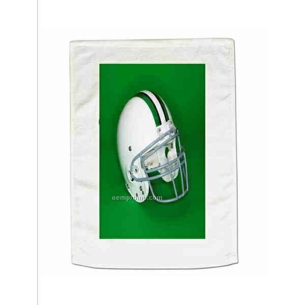 """Promotional Hemmed Terry Towel - White (15""""X18"""")"""