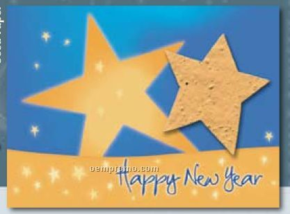 """""""Wish On A Star"""" New Year's Greeting Card With Seed Paper Star"""
