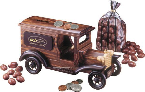 1913 Armored Car Bank W/ Milk Chocolate Almonds