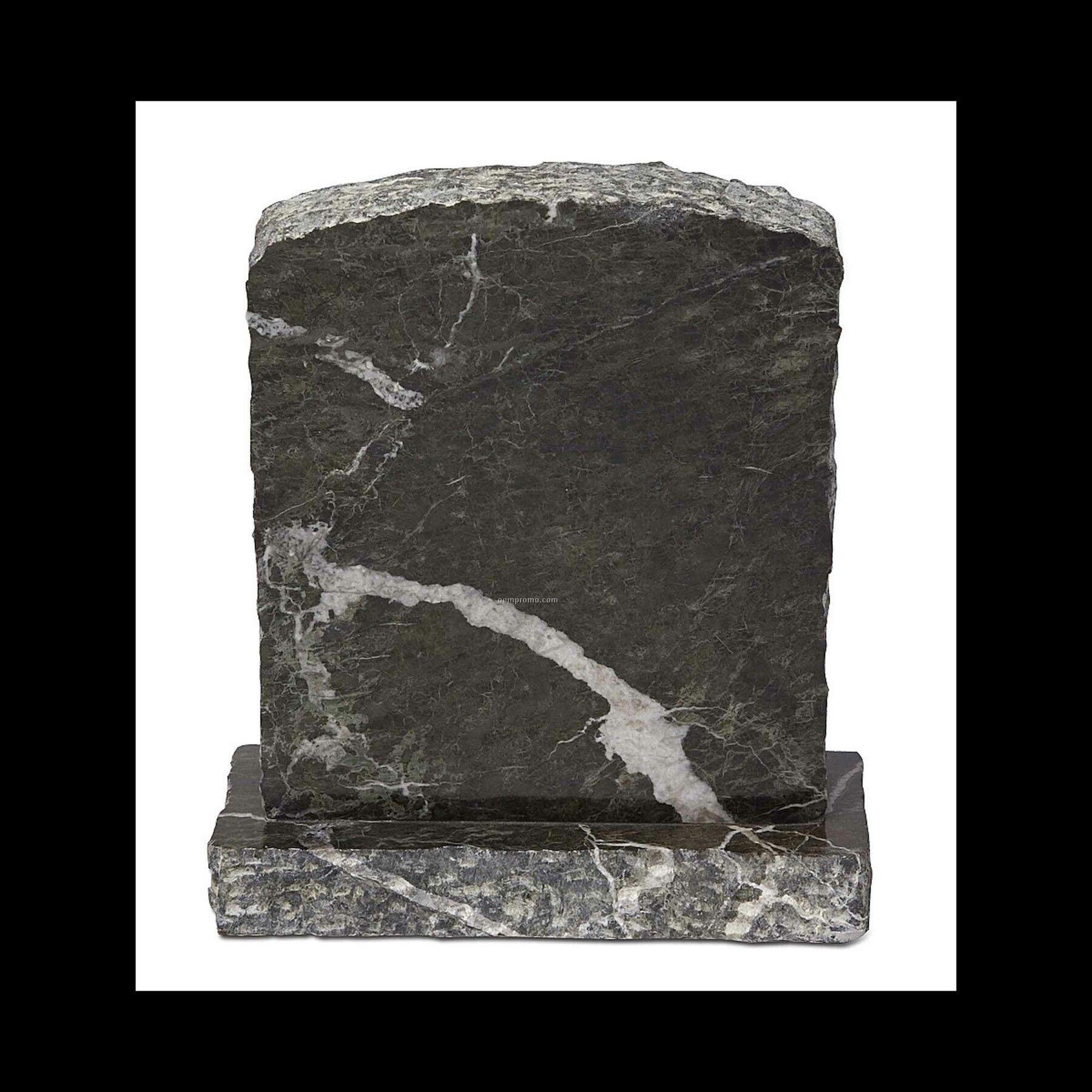 """6"""" Jade Green Marble Tombstone Award"""