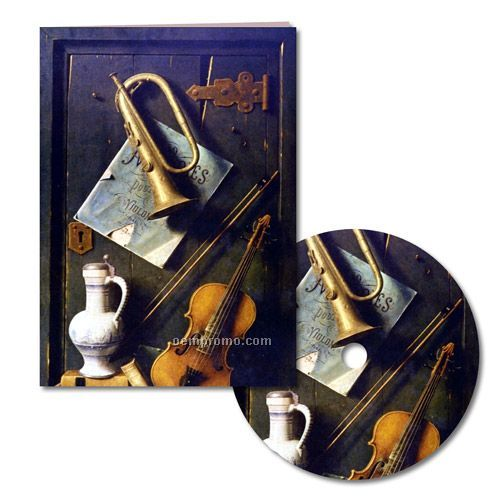 Classic Art And Music Thank You Note With Matching CD