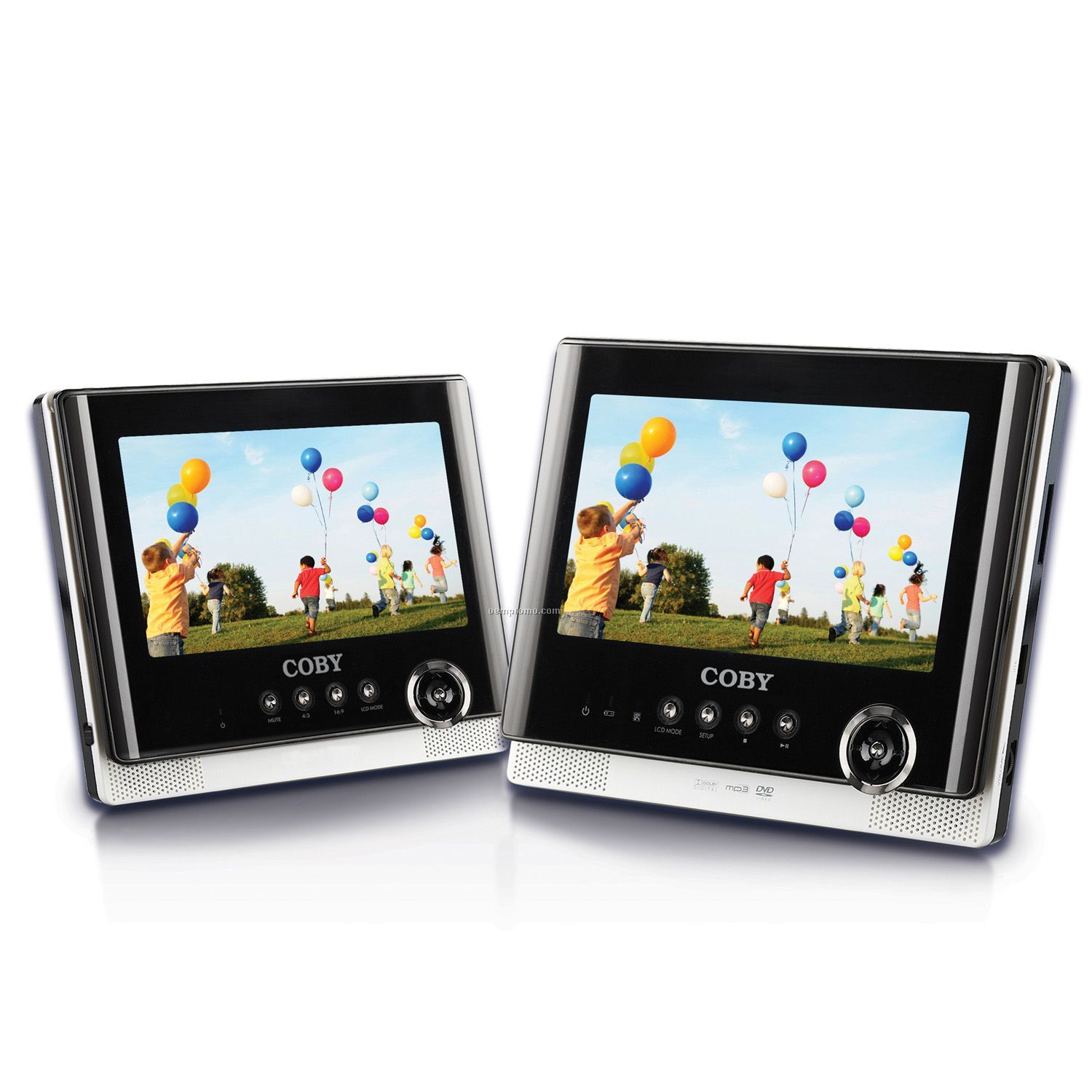 """Coby 7"""" Dual Widescreen Tablet DVD Player"""