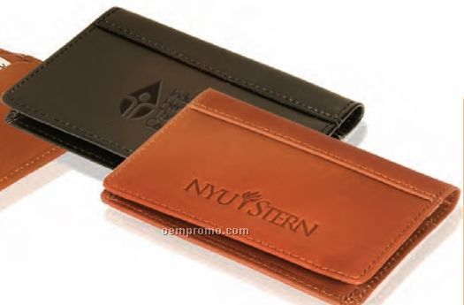 Fire Island Cowhide Leather Business Card Case