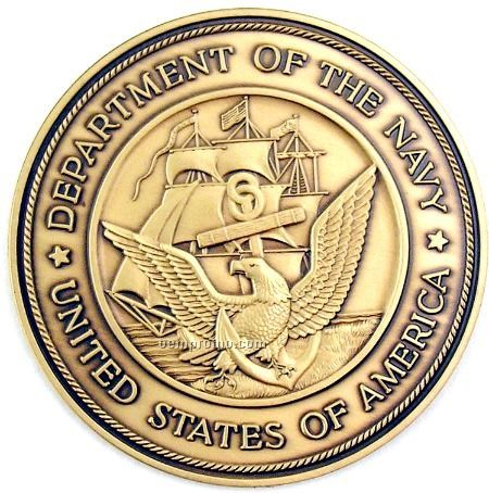 """2-1/2"""" Military Seal/ Coin (Department Of The Navy) Brass ..."""