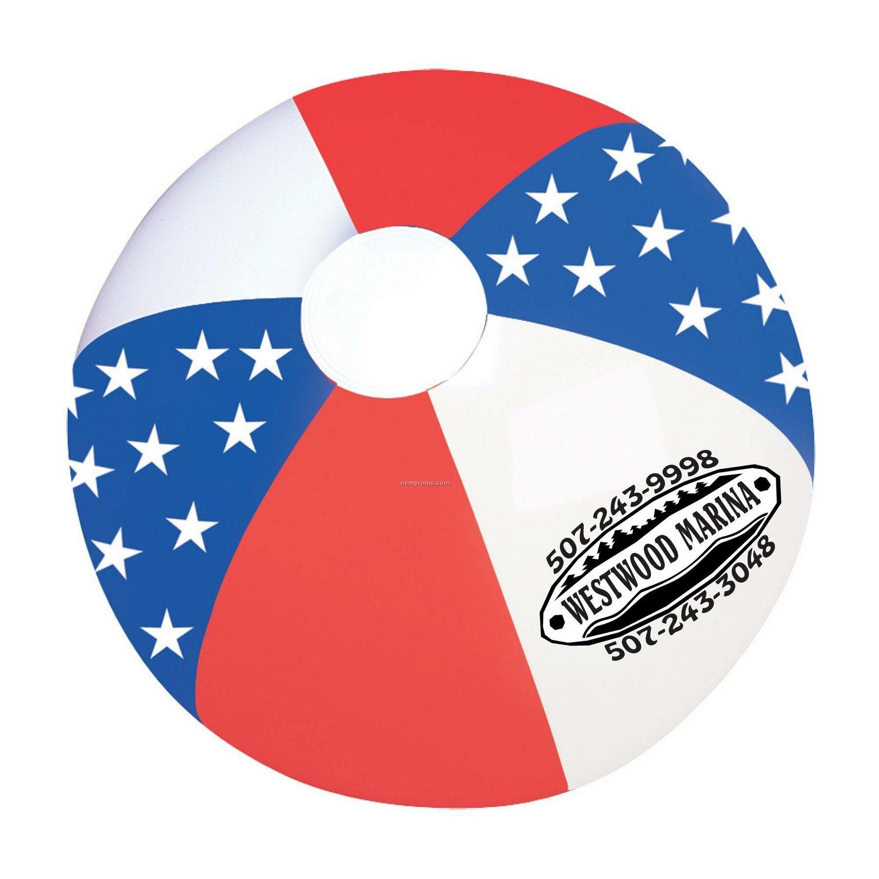 American Flag Beach Ball
