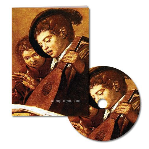 Classic Art And Mandolin Thank You Note With Matching CD