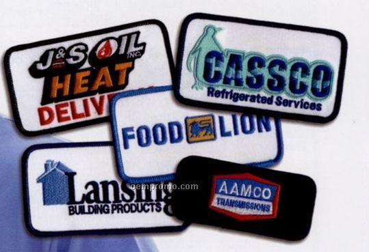 """Custom 3"""" Embroidered Logo Emblem With 40% Coverage"""