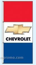 Single Face Dealer Interceptor Drape Flags - Chevrolet