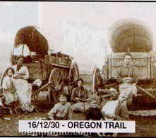 """11""""X14"""" Early American Tin Type Print - Oregon Trail"""
