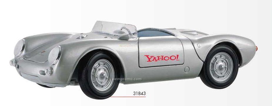 """9"""" Silver Porsche 550a Spyder"""