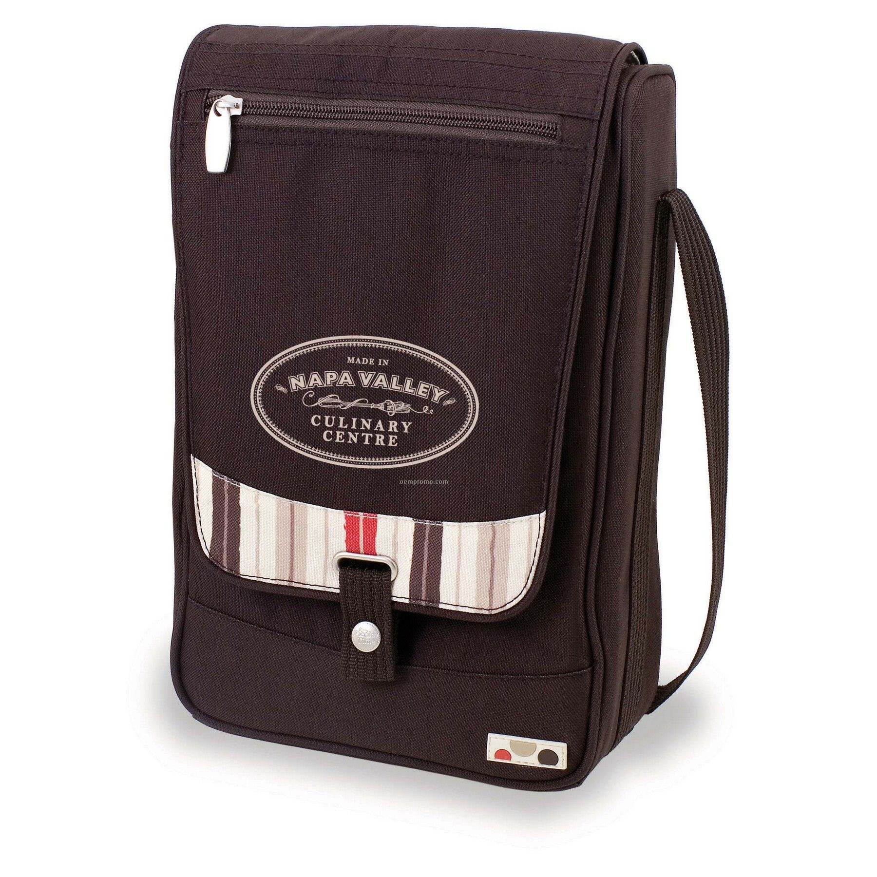 Barossa - Moka Single Bottle Polyester Wine Tote Bag W/ Service For 2