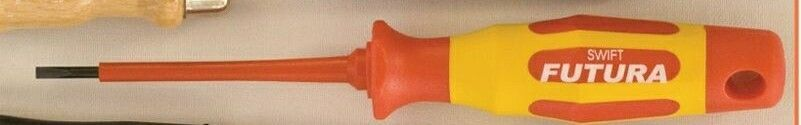"Red/Yellow Insulated (1000v) Slotted Screwdriver - 1/8""X4"""
