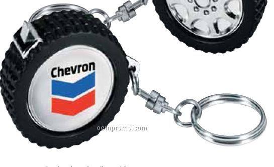 Tire Shape Tape Measure Key Tag