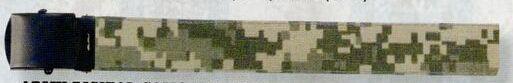 "Army Digital Camouflage/ Khaki Beige Reversible Military Web Belt (54"")"