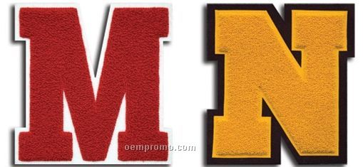 Numbers And Award Letters Chenille Patches (2