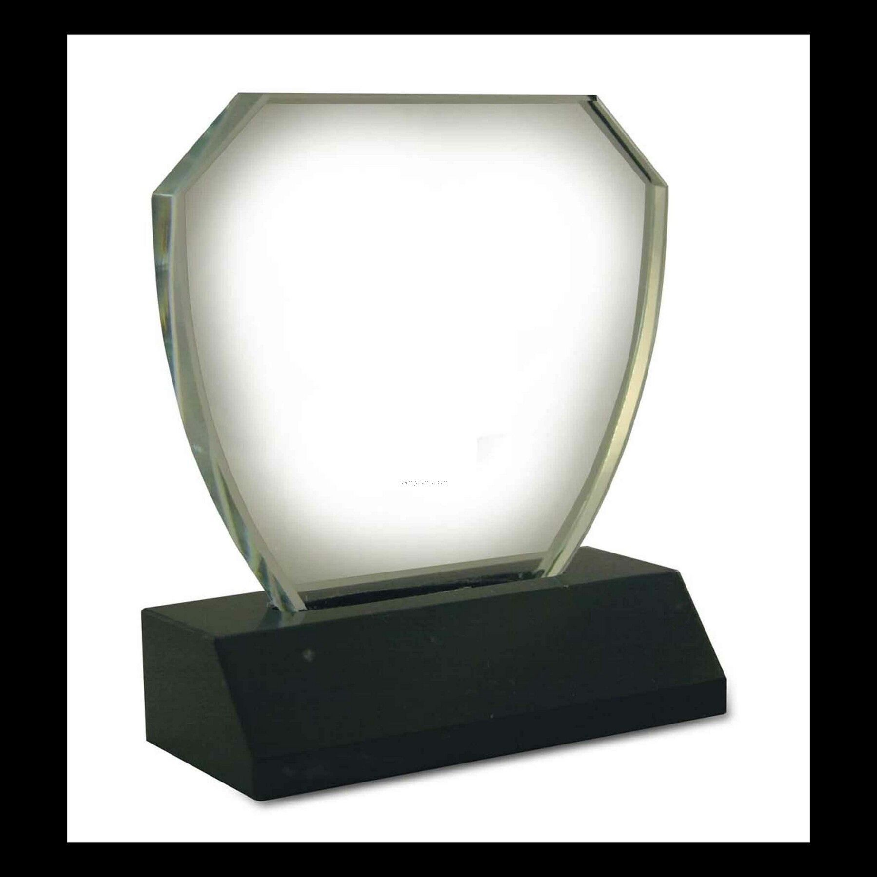 Shield Award With Black Marble Base - Small
