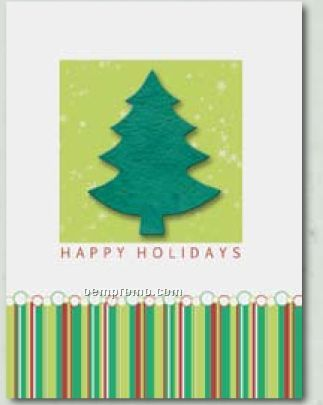 """Fresh & Fun"" Holiday Greeting Card With Tree Ornament"