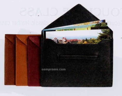 "4-3/4""X6-3/4""X1/8"" Leather Envelope Photo Holder"