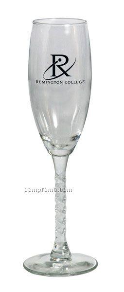 5.75 Oz. Twist Stem Flute Glass