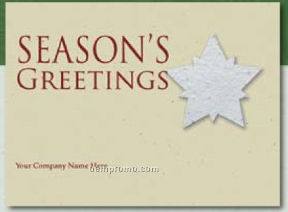 Kraft Green Holiday Greeting Card With Star Ornament