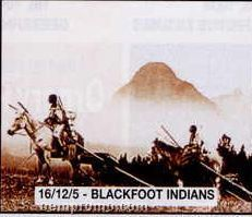 "11""X14"" Early American Tin Type Print - Blackfoot Indians"