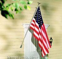 100% Nylon U.s. Flag Set W/ Gold Pole & Bracket (3'x5')
