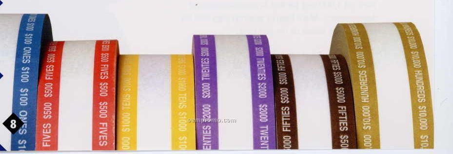 $5.00 Aba Currency Band Rolls ($500 Volume)
