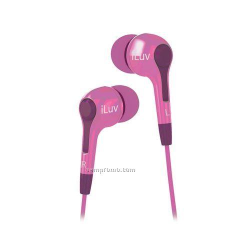 Iluv - Headphones / Earphones Caf Nites In-ear Earphones - Compact Stereo