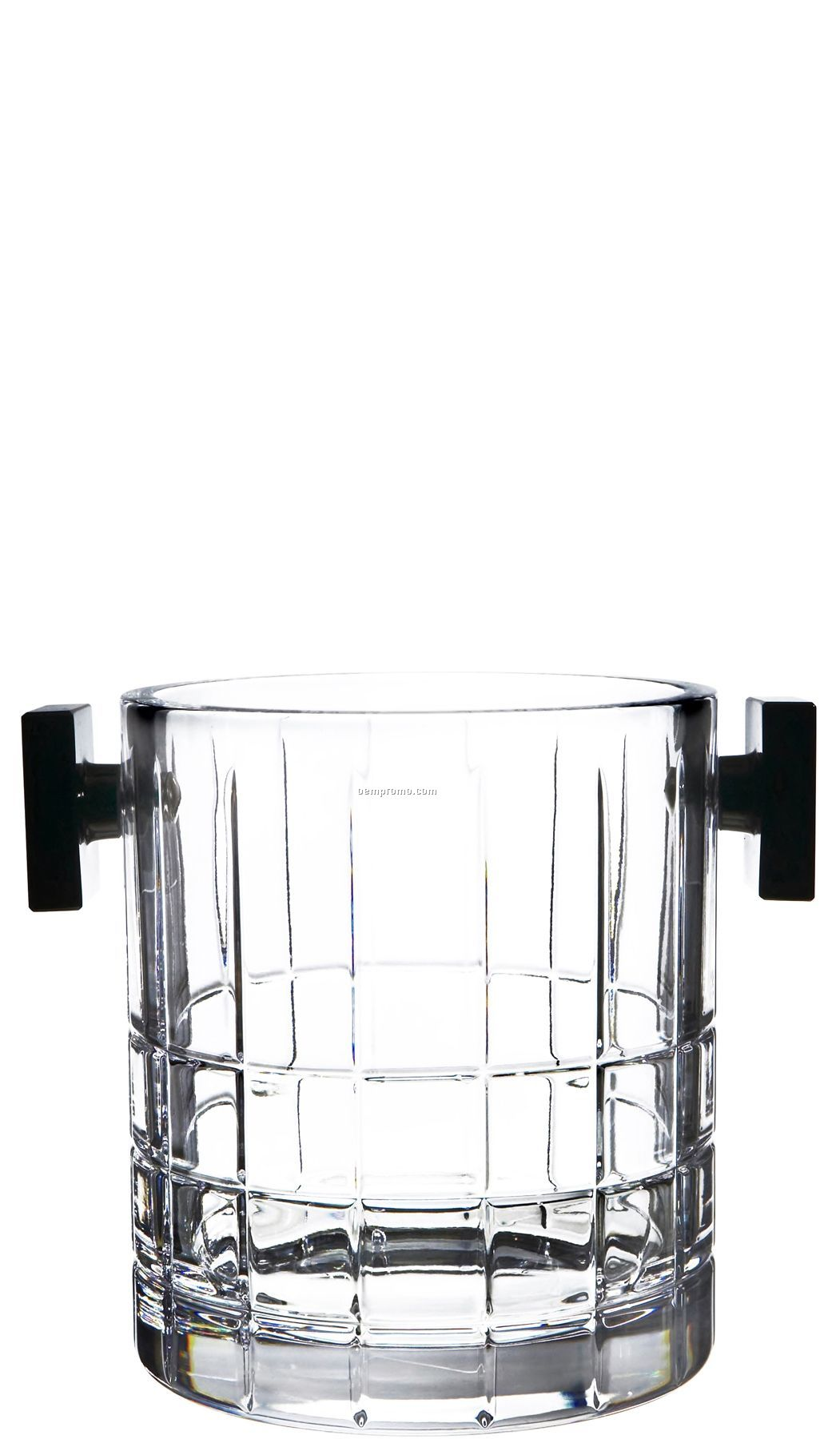 Street Crystal Ice Bucket W/ Manhattan Street Grid