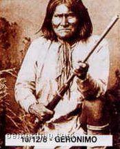 """11""""X14"""" Early American Tin Type Print - Geronimo"""