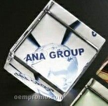 """Crystal Illumachrome Clipped Cube Award (2"""")"""