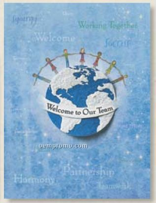 Recognition Welcome Card With Earth Seed Decoration
