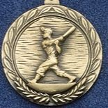 "2.5"" Stock Cast Medallion (Baseball/ Little League)"