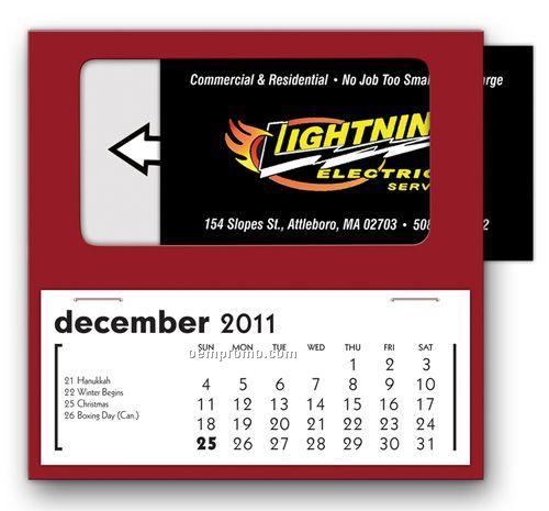 Basic Business Card Calendar