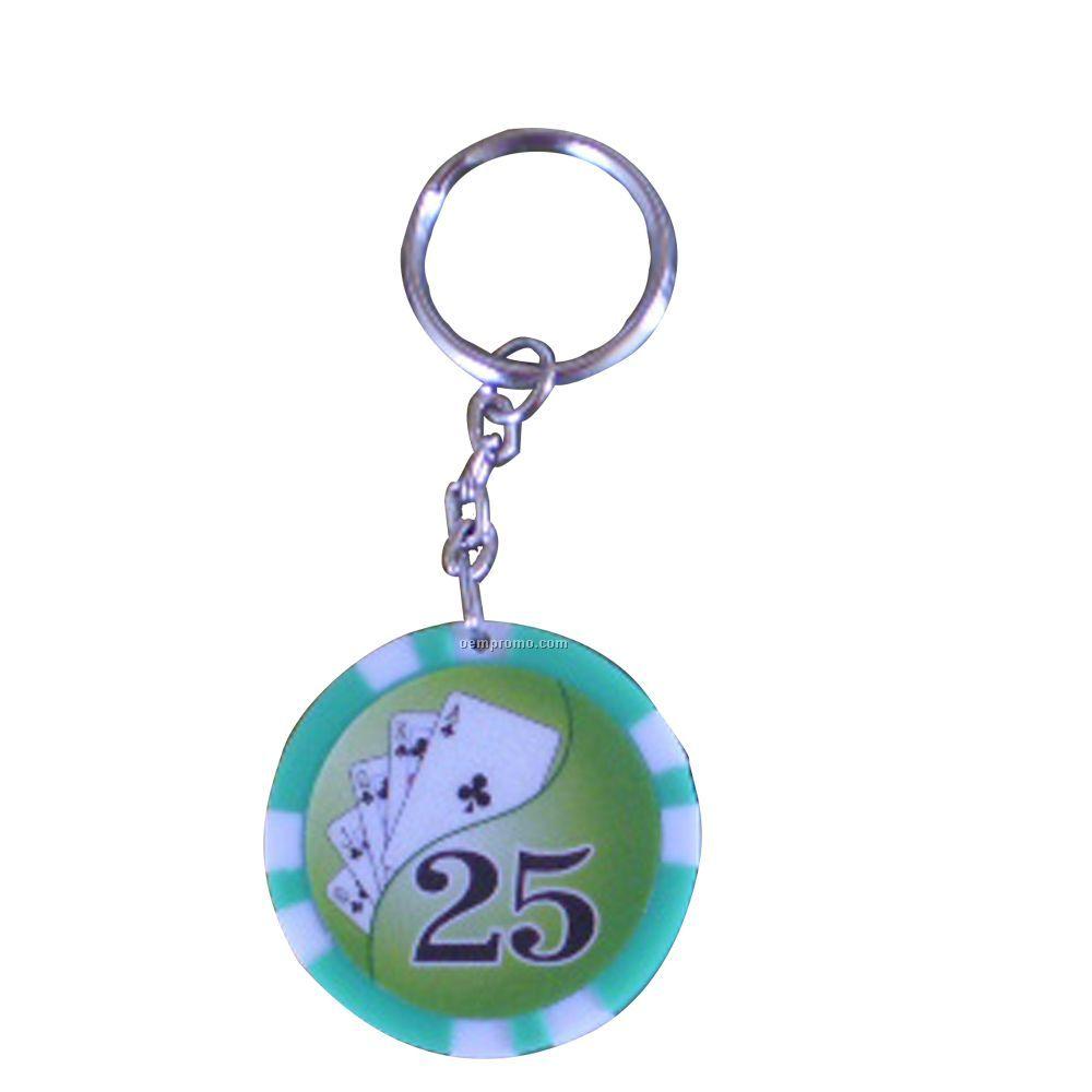 LED Light Poker Chip Key Ring 4