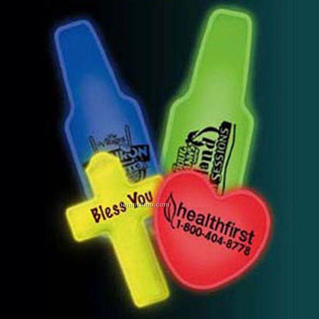 Yellow Cross Shaped Glow Badge