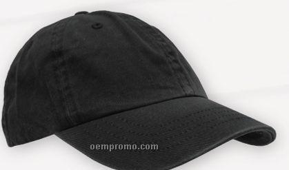 Black Ball Cap W/ Hook & Loop Closure