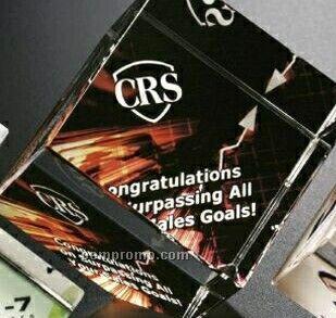 """Crystal Illumachrome Clipped Cube Award (3"""")"""