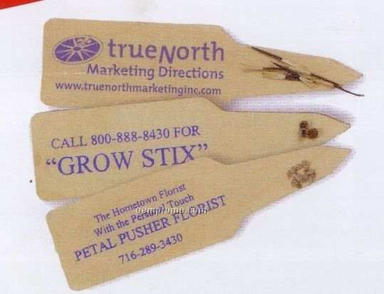 Flower & Vegetable Grow Stix With Natural Wood Base
