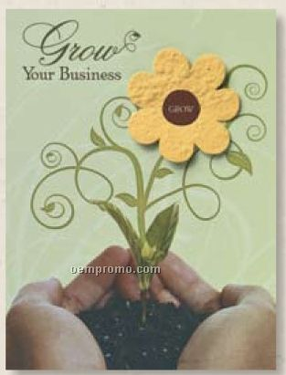 Prospecting Greeting Card With Embedded Flower Seed Decoration