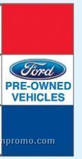 Single Face Dealer Interceptor Drape Flags - Ford Pre-owned