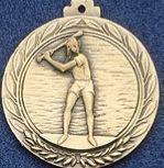 """2.5"""" Stock Cast Medallion (Baseball/ Female)"""